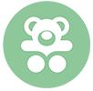 icona verde peluche